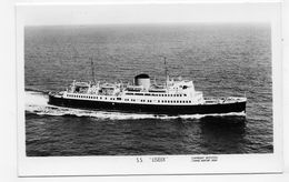 (RECTO / VERSO) BATEAU LISIEUX - N° 9893 - FORMAT CPA NON VOYAGEE - GB - Ferries