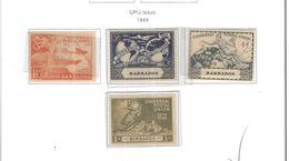 Barbados 1949 Upu Valori 04 Nuovi Scott.212/215 See Scans - Barbados (...-1966)