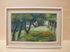 Ölbild , Böhmische  Waldlandschaft  ,  Karton  Ca. 1920 - Oils