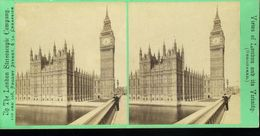Houses Of Parliament Views Of London And Its Vicinity London Stereoscopic Company Photographie Stéréoscopique Photo Stér - Stereoscopio