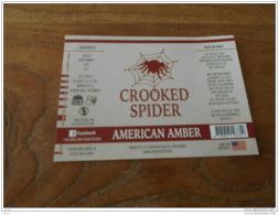 BIERETIKET CROOKED SPIDER AMERICAN AMBER - Bière