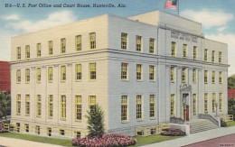 Alabama Huntsville Post Office And Court House Curteich - Huntsville