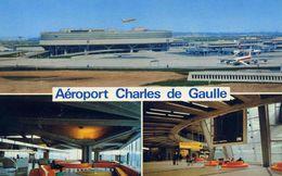 "AVIONS / AEROPORT   /  L 17 /   "" CHARLES DE GAULLE   ""   CPM / CPSM  10 X 15 - Aerodrome"