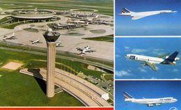 "AVIONS / AEROPORT   /  L 17 /   "" CHARLES DE GAULLE   ""   CPM / CPSM  10 X 15 - Aerodromi"