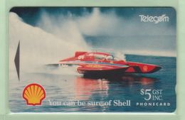New Zealand - 1993 Shell Sports - $5 Hydroplane - NZ-A-13 - Mint - New Zealand