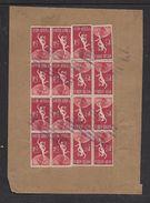 S.Africa, 1949, U.P.U., 1 1/2d 7 Horizontal  Pairs, 2 Singles,COTTESLOE Parcels Cancel, Undated - South Africa (...-1961)
