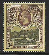 St Helena 1913, 3d, MH * - Saint Helena Island