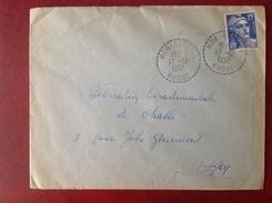 Cachet Perlé 69 MONTROTTIER Chasseurs Du Rhone - Postmark Collection (Covers)