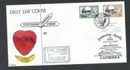 Tonga 1983 Transport Officials - 29s & 32s Ship Handstamped Official Tied To Special Cruise FDC - Tonga (1970-...)