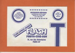 """PARIS-15  """" FLASH  Photo-cine-son """"    ENVELOPPE-REPONSE Valable Du 22 Mai 1969 Au 21 Mai 1970 - France"""