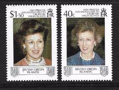 ILES VIERGES 1988 ALEXANDRA  YVERT N°608/09  NEUF MNH** - Royalties, Royals