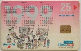 Philippines Phonecard Bayan Tel 25 Pesos Calendar 1999 - Philippines