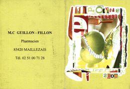 Calendrier 2008 - M.C Guillon-Fillon Pharmacien Maillezais - Tamaño Pequeño : 2001-...