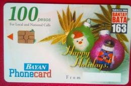 Philippines Phonecard Bayan Tel Happy Holidays 100 Pesos - Philippines