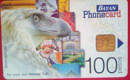 Philippines  Phonecard Bayan Tel Eagle 100 Pesos - Philippines