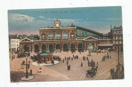 Cp , Chemin De Fer , La Gare, 59 , LILLE , Ed : P.L. ,n° 56 , Voyagée 1923 - Gares - Sans Trains