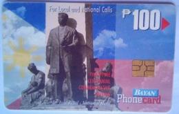 Philippines Bayan Tel Rizal Monument 100 Pesos - Philippinen