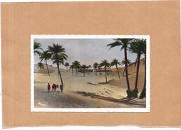 Collection Artistique L'AFRIQUE  - Dunes De Sable Envahissant L'Oasis - ENCH - - Algérie