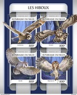 NIGER 2017 SHEET OWLS HIBOUX EULEN BUHOS CORUJAS CHOUETTES LECHUZAS BIRDS AVES PASSAROS UCCELLI OISEAUX Nig17209a - Niger (1960-...)