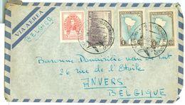 ARGENTINIE BRIEFOMSLAG Uit 1952 Gelopen Van BUENOS AIRES Naar ANVERS BELGIE  (10.644a) - Argentinië