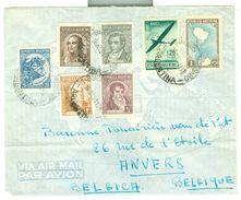 ARGENTINIE BRIEFOMSLAG Uit 1952 Gelopen Van BUENOS AIRES Naar ANVERS BELGIE  (10.644d) - Argentinië