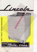 PUBLICITE LINCOLN - MACHINE A LAVER MILLE ONZE- LAVAGE LINGE - Pubblicitari