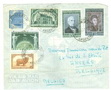 ARGENTINIE BRIEFOMSLAG Uit 1952 Gelopen Van BUENOS AIRES Naar ANVERS BELGIE  (10.644e) - Argentinië