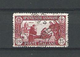 1931 N° 277  LA MORT DU SAINT OBLITERE - 1900-44 Vittorio Emanuele III