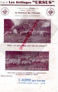 86- LA ROCHE POSAY- PUBLICITE LES GRILLAGES ACIER URSUS-CLOTURE DE BOURBOURG 59- -1 PLACE DU LOUVRE PARIS- L. ALEPEE - Pubblicitari