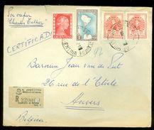R-AANGETEKENDE ARGENTINIE BRIEFOMSLAG Uit 1952 Gelopen Van BUENOS AIRES Naar ANVERS BELGIE  (10.644m) - Argentinië