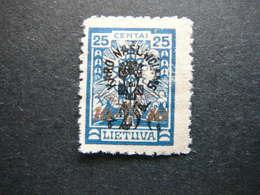 Lietuva Lithuania Litauen Lituanie Litouwen # 1926 MNG # Mi. 252y No Gum - Lithuania