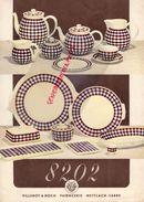 ALLEMAGNE -METTLACH-PUBLICITES VILLEROY & BOCH- PORCELAINE 8202-SERVICE A CAFE-CAFETIERE-THEIERE-RAVIER-SUCRIER - Pubblicitari
