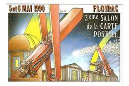33 FLOIRAC Vers Bordeaux Salon Carte Postale Des 5 & 6 Mai 1990 Tirage Limité à 3000 Dessin Illustrateur Bernard Veyri - Bordeaux