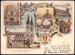 1902 Farblitho Kathedrale Nagpur Book-Post KHANDWA Nach Deutschland Paar Nr. 49 - Indien