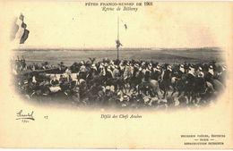 CPA N°4719 - FETE FRANCO RUSSE DE 1901 - REVUE DE BETHENY - DEFILE DES CHEFS ARABES - MILITARIA - Bétheny