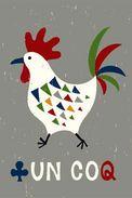 Un Coq - Carte Photo Moderne - Oiseaux