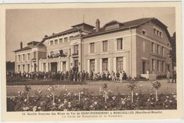 CPA:  MANCIEULLES (Dpt.54):  Mines De Fer De St. PIERREMONT.   La Salle De Réunions Et La Roseraie.  (D 1087) - France