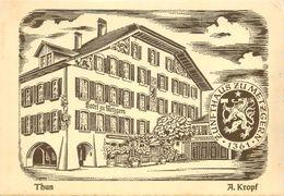 """CPSM SUISSE """"Thun, Hotel Zu Metzgern"""" - BE Berne"""