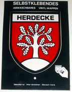 Herdecke ( Arnsberg ) Allemagne - Carte Postale Blason Adhésif Autocollant - Arnsberg