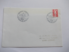 Lettre France Inter Communes Train Bateau 1992 Cachet Sains En Gohelle - Postmark Collection (Covers)