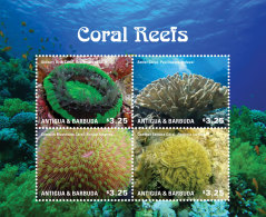 ANTIGUA & BARBUDA 2014 ** Coral Reefs Korallenriffe M/S - OFFICIAL ISSUE - DH9999 - Marine Life