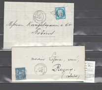 Lettre  Gare D Epernay Marne - 2 Piéces - Marcophilie (Lettres)
