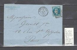 Lettre Gare D Epinal - Vosges  -Indice 11 - Marcophilie (Lettres)