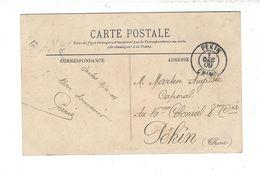 CAD PEKIN CHINE 1 DEC 09 ( Cachet D'arrivée Au Bureau Français - Cpa Venant De France Pour Auguste Martin 16è Colonial - Covers & Documents