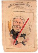 EDMOND ABOUT.Les Hommes D'aujourd'hui.Dessins De GILL.n°15.20 Décembre 1878. 4 Pages.MAUVAIS ETAT. - Libri, Riviste, Fumetti