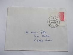 Lettre Belgique Eurailspeed 1992 Cachet Bruxelles - Postmark Collection