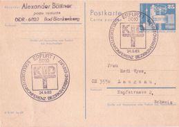 DDR Amtliche Postkarte Bauwerke Groß,  Mi.Nr. P80, Sonderstempel 24.9.1983 - [6] Repubblica Democratica
