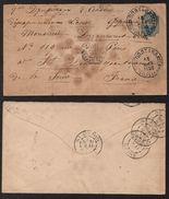 RUSSIE - Полтава - POLTAVA - UKRAINE /1890 ENTIER POSTAL POUR LA FRANCE (7529) - 1857-1916 Empire