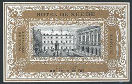 """Carte Porcelaine """" Hôtel De Suède / H. Tart / Liège Place Du Spectacle   10 X 6.5 Cm - Liege"""