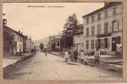 MEURTHE ET MOSELLE - NEUVES MAISONS - RUE DE NEUFCHÂTEAU , BANQUE SOCIETE GENERALE - éditeurs Mathely - Neuves Maisons